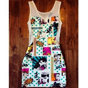 Retro Comic Party Dress